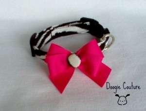 DOOGIE COUTURE Zebra Dog Collar XS Large