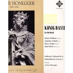 David (King David), 2 LP Set Arthur Honegger, Orchestre National de