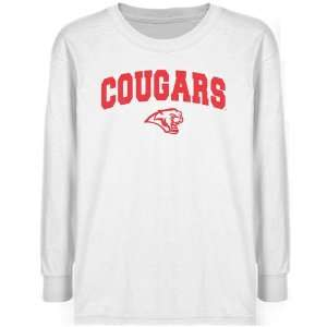 Houston Cougars Youth White Logo Arch T shirt  Sports