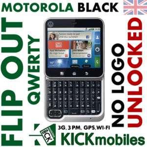 NEW 3G MOTOROLA FLIP OUT FACTORY UNLOCKED FLIPOUT BLACK 5025322415078