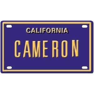Cameron Mini Personalized California License Plate