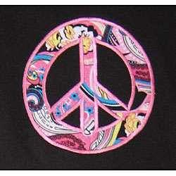 Ann Loren Girls Paisley and Zebra Peace Shirt and Pants Set