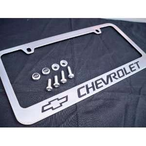 Chevrolet Chevy Logo Chrome Metal License Plate Frame with