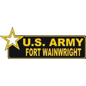 United States Army Fort Wainwright Bumper Sticker Decal 9