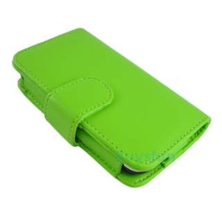 Green WALLET LEATHER CASE COVER SKIN FOR IPHONE 3G 3Gs