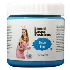 Ammonia Free Liquid Latex Body Paint   4oz Neon Blue