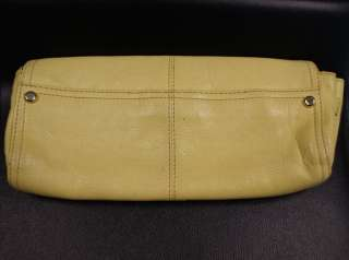 JUICY COUTURE Yellow Leather Chain Flap Magnetic Closure Clutch