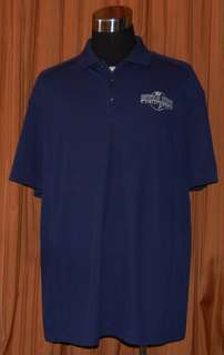 STUDIOS HOLLYWOOD NIKE DRI FIT BLUE GOLF POLO SHIRT MENS XXL 2XL NWT