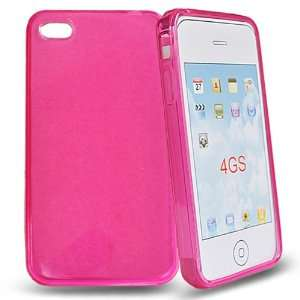 Mobile Palace  Pink Gel skin case cover pouch holster for Apple iphone