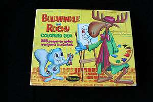 BULLWINKLE AND ROCKY COLORING BOX COLORING BOOK 1960S