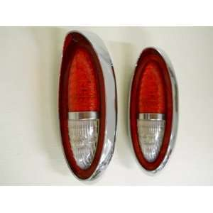 1954 Chevy Passenger Car LED Red Brake Turn Tail Light / White LED