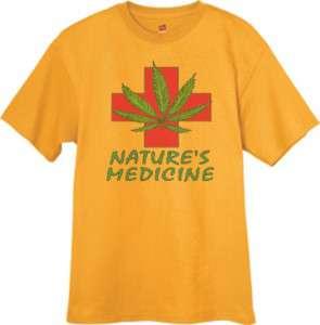 Medical Marijuana Weed Pot 420 Tee Shirt YELLOW T SHIRT