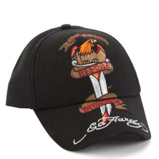 Ed Hardy Black Boys Death Before Dishonor Cap  Black