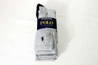 Polo Ralph Lauren Mens 3 Pair Classic Cotton Sport Socks 10 13