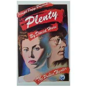 PLENTY (ORIGINAL BROADWAY THEATRE WINDOW CARD)  Kitchen