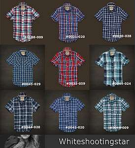 NWT HCO Hollister Mens PREPPY OCEAN BEACH PLAID SHIRT SIZE XS, S, M
