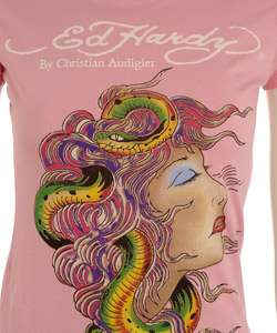 Ed Hardy Womens Short sleeve Medusa T Shirt