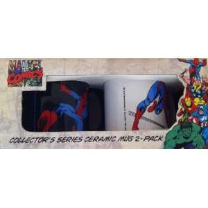 Marvel Comics Spiderman Collectors Series Ceramic Mugs 2 pack