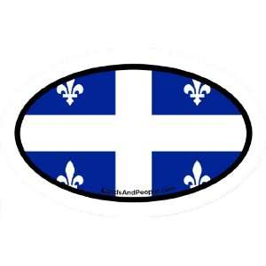 Quebec Canada Flag Car Bumper Sticker Decal Oval