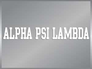 ALPHA PSI LAMBDA cut vinyl decal sticker strip Greek