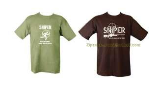 Army Combat T shirt Sniper, Infidel, AK 47 Taliban Hunting Club