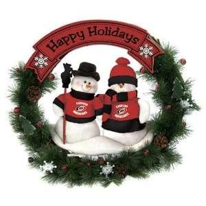 BSS   Carolina Hurricanes NHL Snowman Christmas Wreath (20