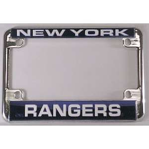 New York Rangers NHL Chrome Motorcycle RV License Plate