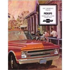 1967 CHEVROLET PICKUP TRUCK Sales Brochure Book