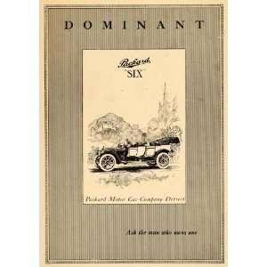 Ad Packard Motor Cars Dominant Six Vehicle Model Auto Detroit Drive