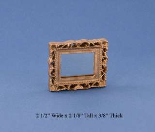 Dollhouse Miniature Fancy Gold Framed Mirror #HD1753