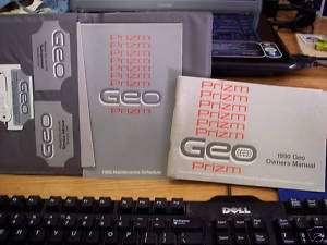 1990 GEO Prizm owners manual Case & Key