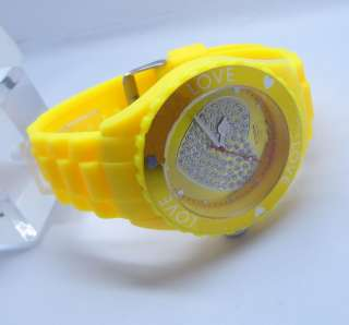 13 colors Silicone Wrist Watch Love Heart Wheel jewelry Unisex Jelly