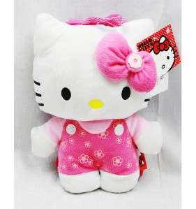 Sanrio Hello Kitty Plush Backpack Small 10 100% Authentic (Flowers