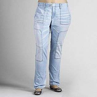 Plus Super Light Faded Jeans  Beverly Drive Clothing Womens Plus