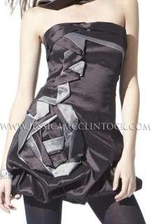 NWT Jessica McClintock 54189 Brown Taffeta Dress 4