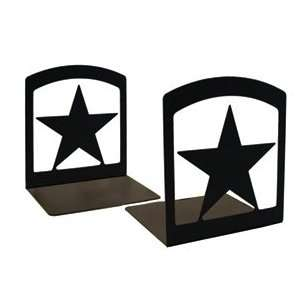 Monazite BE 45 Star Book Ends Powder Metal Coated Home
