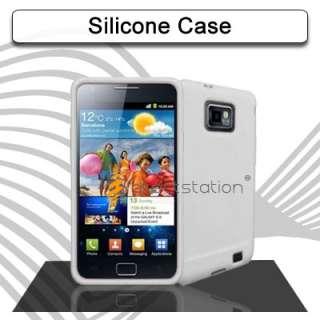 Clear White Soft Skin Case Samsung Galaxy S II 2 i9100