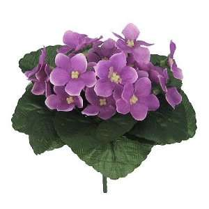 Artificial Silk African Violet Bush Lavender (Dozen): Home