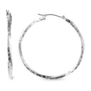 Gold Diamond Cut Twist Hoop Earrings  Jewelry Gold Jewelry Earrings