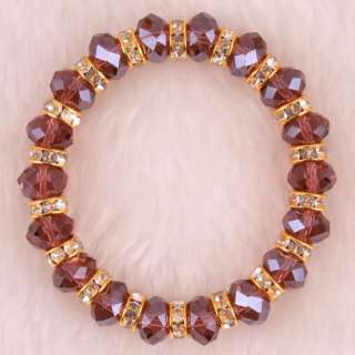 Crystal Abacus faceted Loose beads Bracelet 7 FH108