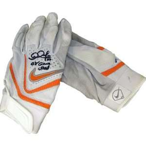 Adam Jones Autographed / Signed Game Used Grey / Orange Batting Glove