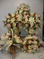 SILK~ WEDDING BRIDAL FLOWERS BOUQUET PACKAGE ~BLUSH~
