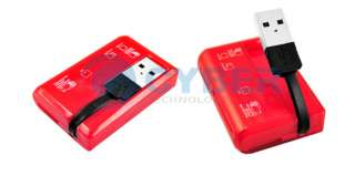 Red 46 in1 USB 2.0 M2 SD MMC T Flash Card Reader Writer