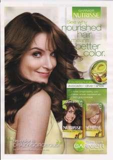 2012 GARNIER NUTRISSE HAIR COLOR CREME Magazine Print Ad TINA FEY
