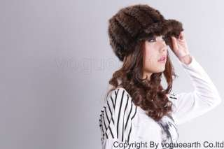 510 new real knit mink fur 5 color hat /caps