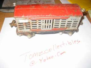 LIONEL NO 656 CATTLE CAR RARE PRE WAR CATTLE CAR/ BOX CAR