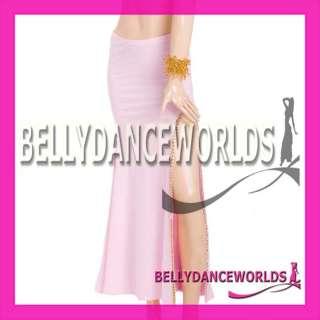 COSTUME SET BRA TOP SKIRT BOLLYWOOD DANCING GOLD SEQUINS SEXY SLIT