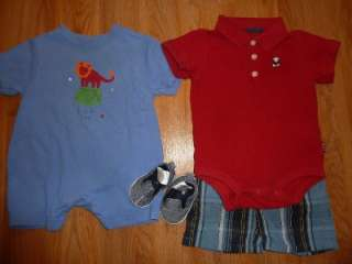 BOY 0 3 3 6 MONTHS SPRING SUMMER OUTFIT CLOTHES LOT infant #305