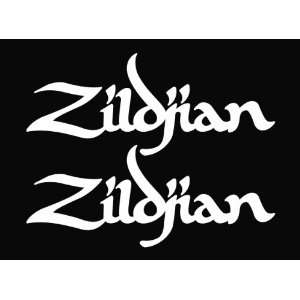 (2) Zildjian Drum Cymbal Vinyl Die Cut Decal Sticker 6.75