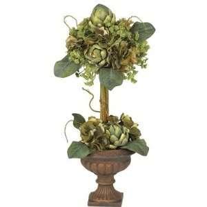 Artichoke Topiary Silk Flower Arrangement Home & Kitchen